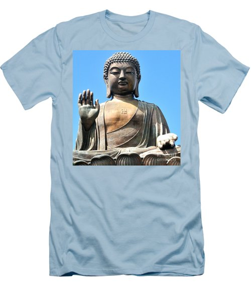Tian Tan Buddha Men's T-Shirt (Athletic Fit)