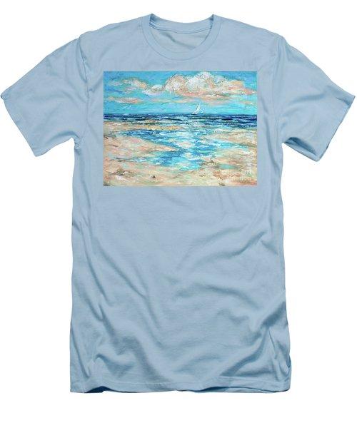 Tide Rising Men's T-Shirt (Slim Fit) by Linda Olsen