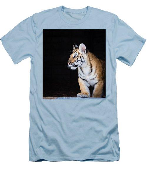 Tiger Cub Men's T-Shirt (Slim Fit) by Serge Skiba