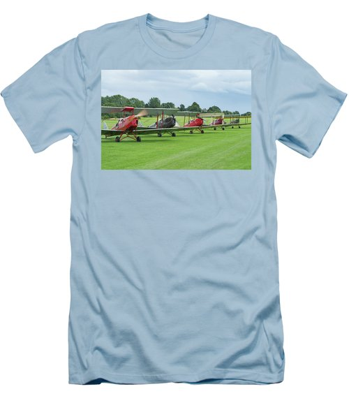 Men's T-Shirt (Athletic Fit) featuring the photograph Tiger Moths Formation Shutdown by Gary Eason