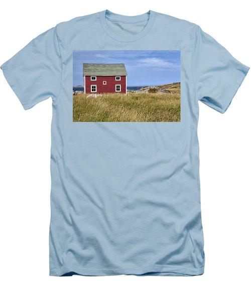 Tilting Men's T-Shirt (Slim Fit) by Eunice Gibb