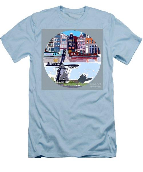 Tilting Windmills Men's T-Shirt (Athletic Fit)