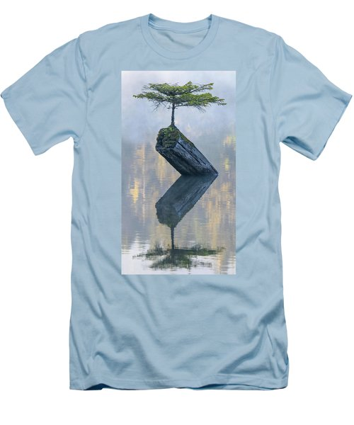 Timeless Tranquility Men's T-Shirt (Slim Fit) by Keith Boone