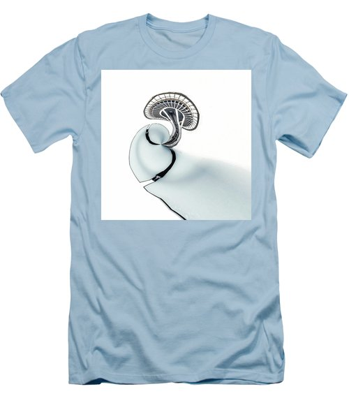 Men's T-Shirt (Slim Fit) featuring the photograph Tinyplanet Space Needle by Wade Brooks