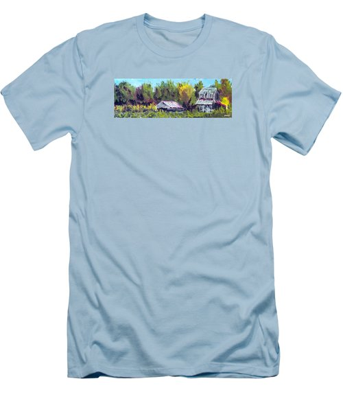 Tobacco Barn On Deppe Loop Rd Men's T-Shirt (Slim Fit) by Jim Phillips
