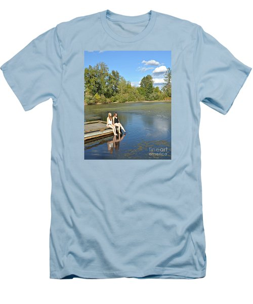 Toes In The Water Men's T-Shirt (Slim Fit) by Mindy Bench