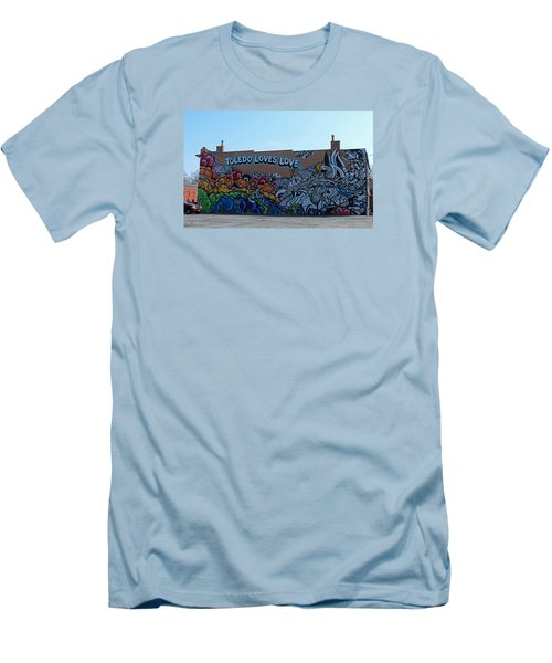 Men's T-Shirt (Slim Fit) featuring the photograph Toledo Loves Love by Michiale Schneider