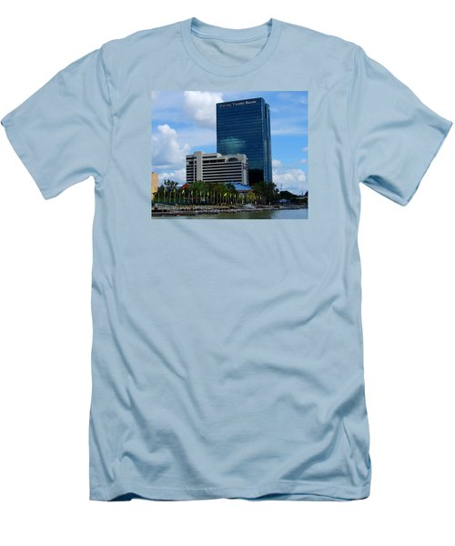 Men's T-Shirt (Slim Fit) featuring the photograph Toledo's Waterfront I by Michiale Schneider