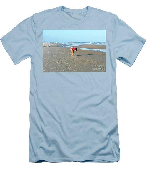 Topsail Island Beach Men's T-Shirt (Slim Fit) by Eva Kaufman