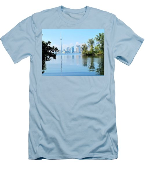 Toronto From The Islands Park Men's T-Shirt (Athletic Fit)