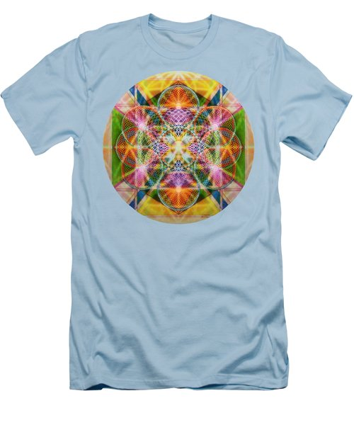 Men's T-Shirt (Slim Fit) featuring the digital art Torusphere Synthesis Bright Beginning Soulin I by Christopher Pringer