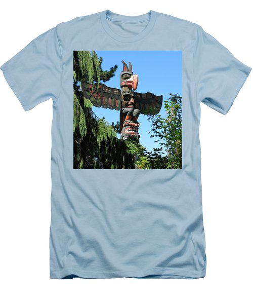 Totem Pole Men's T-Shirt (Slim Fit) by Betty Buller Whitehead
