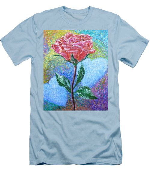 Touched By A Rose Men's T-Shirt (Athletic Fit)