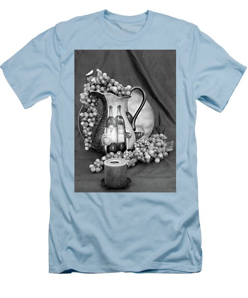 Men's T-Shirt (Slim Fit) featuring the photograph Tour Of Italy In Black And White by Sherry Hallemeier