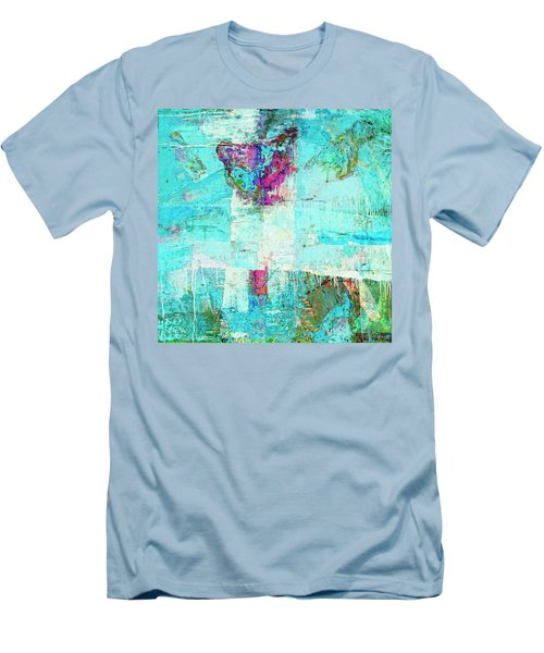 Men's T-Shirt (Slim Fit) featuring the painting Towers by Dominic Piperata