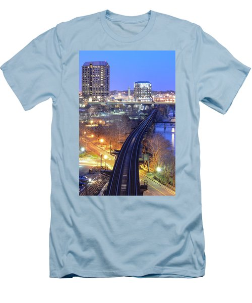 Tracks Into The City Color Men's T-Shirt (Athletic Fit)