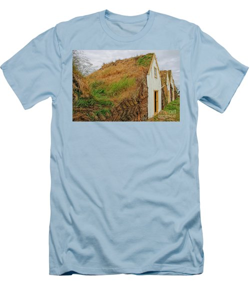 Traditional Turf Houses In Iceland Men's T-Shirt (Athletic Fit)