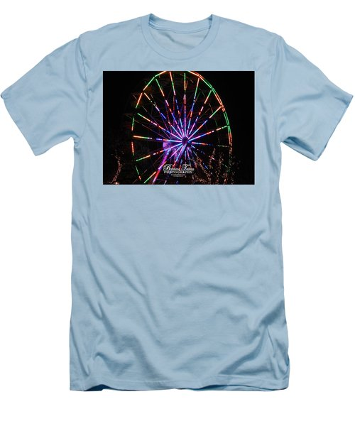 Trail Of Lights #7427 Men's T-Shirt (Athletic Fit)
