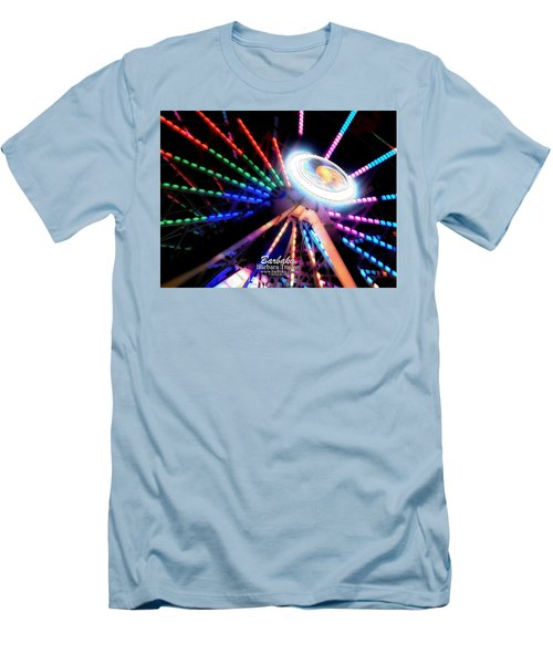 Trail Of Lights Abstract #7486 Men's T-Shirt (Slim Fit) by Barbara Tristan