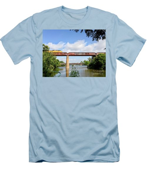 Train Across Lady Bird Lake Men's T-Shirt (Athletic Fit)