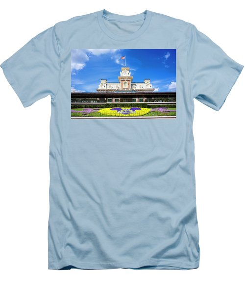 Train Station Men's T-Shirt (Slim Fit) by Greg Fortier