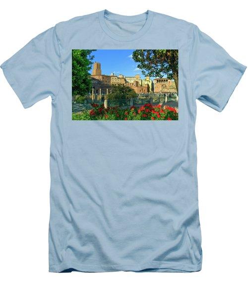 Trajan's Forum, Traiani, Roma, Italy Men's T-Shirt (Slim Fit) by Elenarts - Elena Duvernay photo