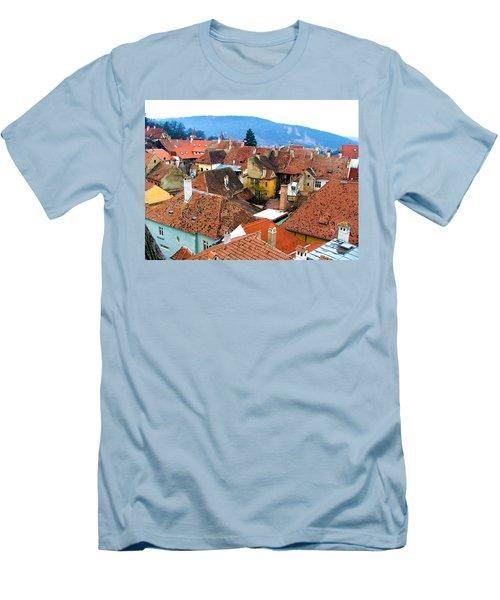 Transylvania Rooftops Men's T-Shirt (Athletic Fit)
