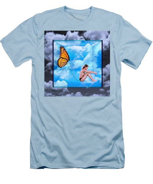 Trapped Butterfly Men's T-Shirt (Athletic Fit)