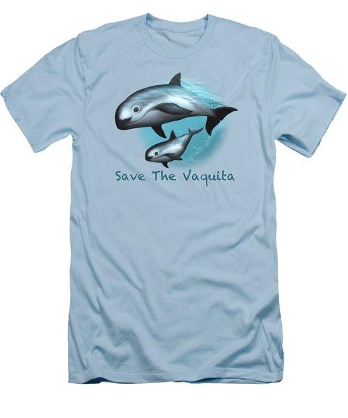 Treacherous Waters Vaquita Porpoise Men's T-Shirt (Athletic Fit)