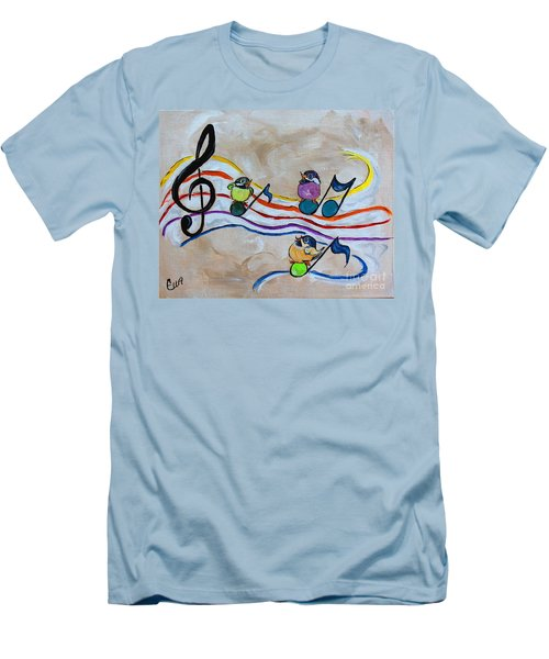 Treble Clef Trio Men's T-Shirt (Slim Fit)