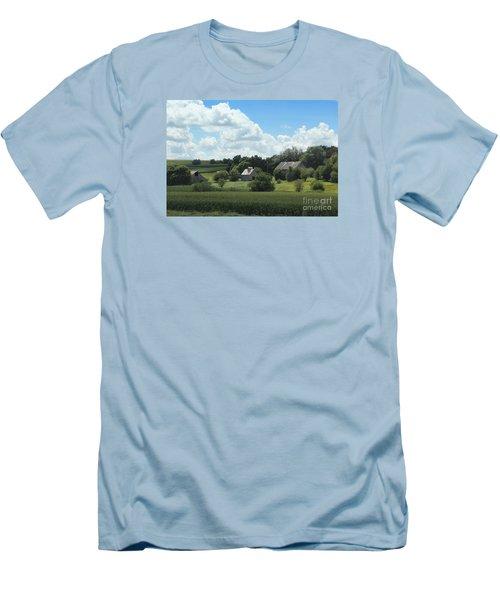 Three Barns Men's T-Shirt (Slim Fit) by Yumi Johnson