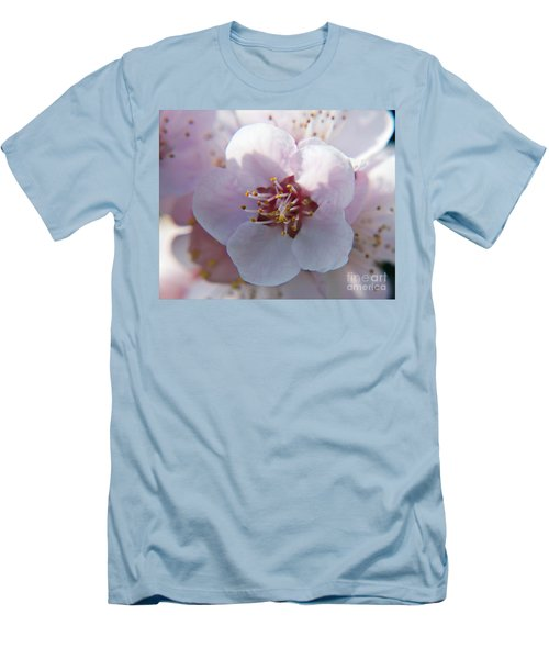 Men's T-Shirt (Slim Fit) featuring the photograph Tree Blossoms by Elvira Ladocki