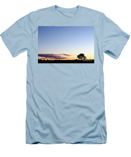 Tree Silhouette By Twilight Men's T-Shirt (Slim Fit) by Kennerth and Birgitta Kullman