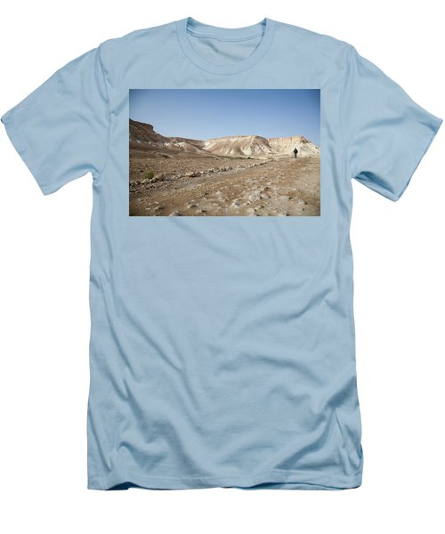 Trekker Alone On The Wild Way Men's T-Shirt (Athletic Fit)