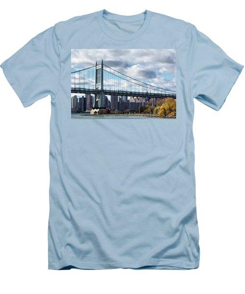 Triboro Bridge In Autumn Men's T-Shirt (Athletic Fit)