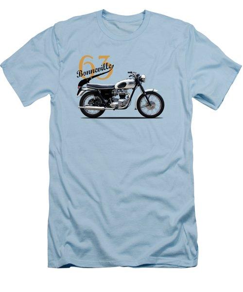 Triumph Bonneville 1963 Men's T-Shirt (Slim Fit) by Mark Rogan