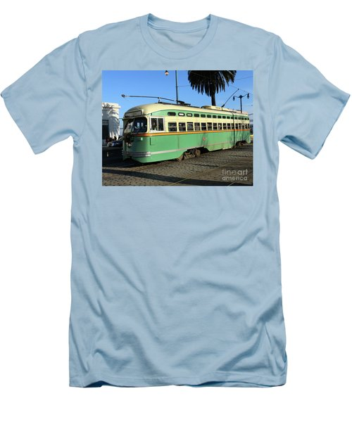 Men's T-Shirt (Slim Fit) featuring the photograph Trolley Number 1058 by Steven Spak
