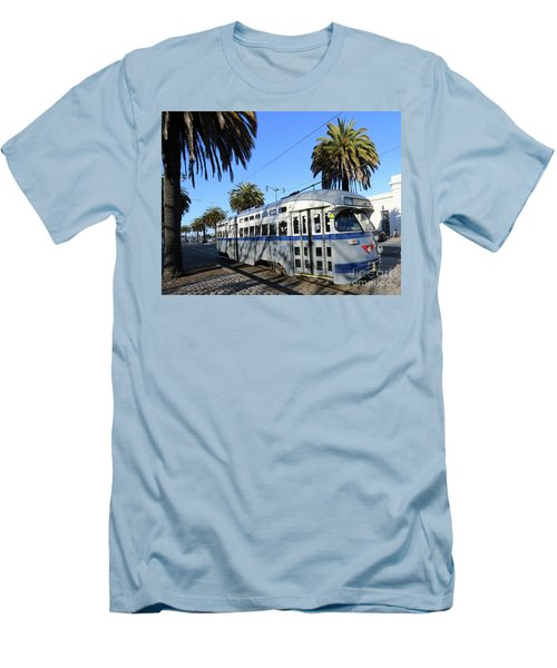 Men's T-Shirt (Slim Fit) featuring the photograph Trolley Number 1070 by Steven Spak