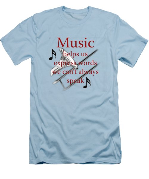 Trombone Music Expresses Words Men's T-Shirt (Slim Fit) by M K  Miller