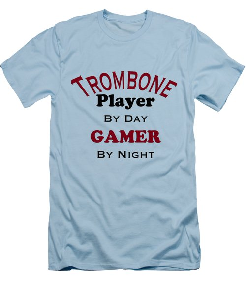 Trombone Player By Day Gamer By Night 5626.02 Men's T-Shirt (Slim Fit) by M K  Miller