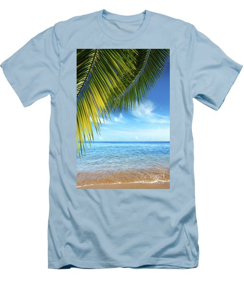 Tropical Beach Men's T-Shirt (Athletic Fit)