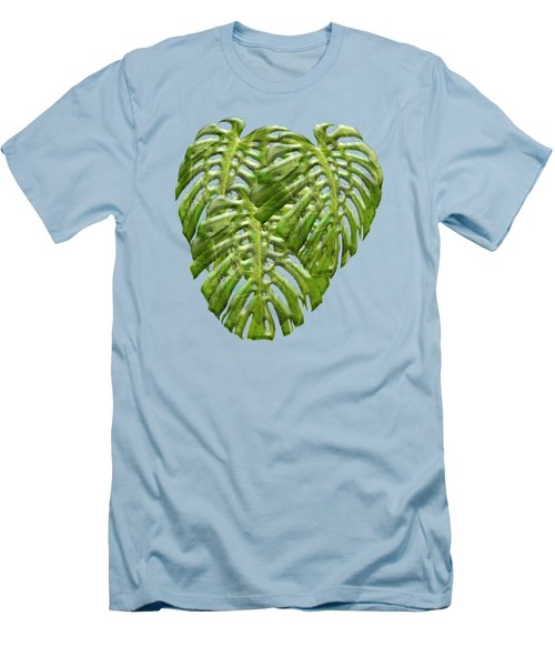 Tropical Jungle Greens Men's T-Shirt (Athletic Fit)