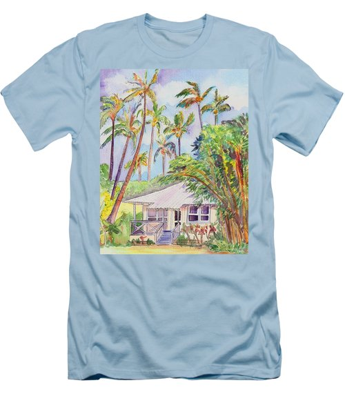 Tropical Waimea Cottage Men's T-Shirt (Slim Fit) by Marionette Taboniar