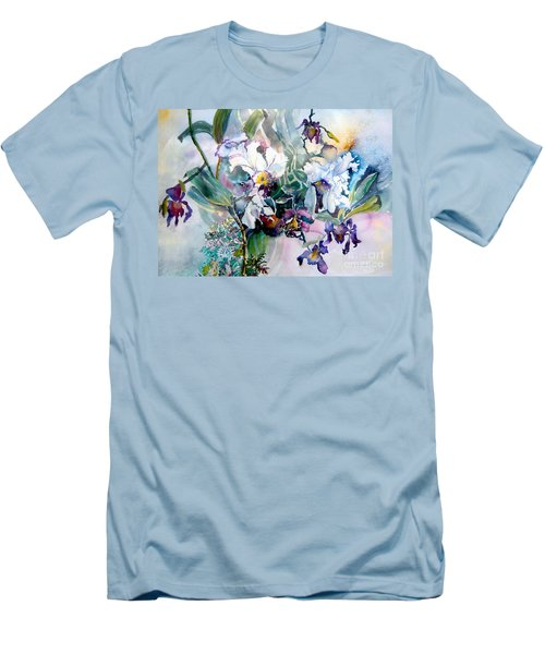 Tropical White Orchids Men's T-Shirt (Athletic Fit)
