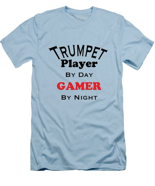 Trumpet Player By Day Gamer By Night 5628.02 Men's T-Shirt (Slim Fit) by M K  Miller