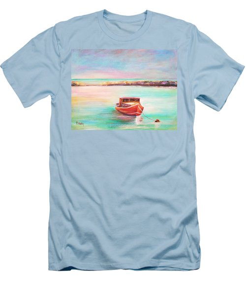 Men's T-Shirt (Slim Fit) featuring the painting Tucked In by Patricia Piffath