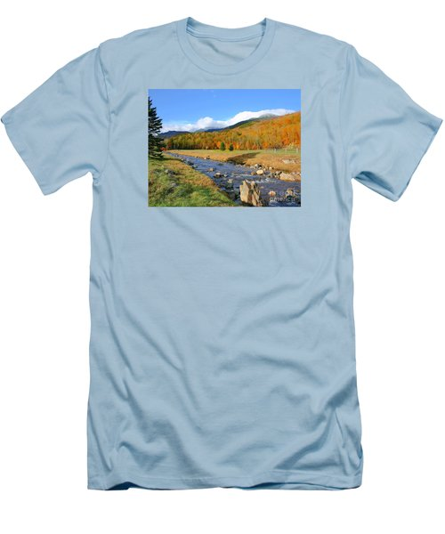Men's T-Shirt (Slim Fit) featuring the photograph Tuckerman's Ravine by Debbie Stahre