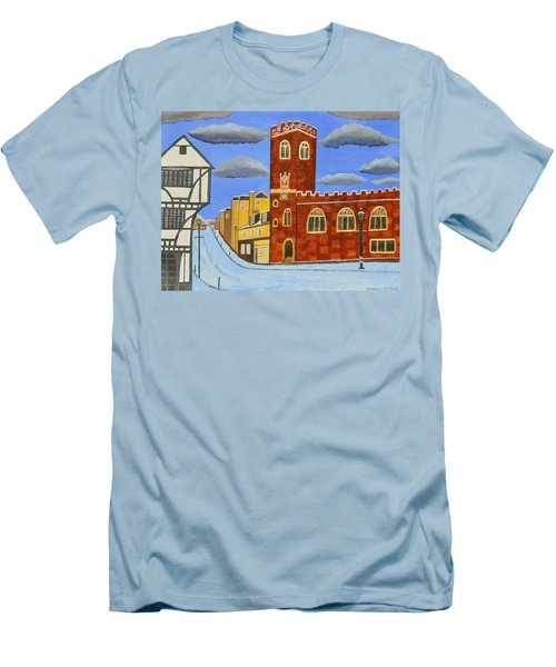 Tudor House In Exeter  Men's T-Shirt (Athletic Fit)
