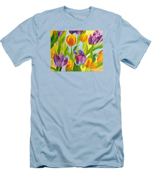 Tulip Fest Men's T-Shirt (Slim Fit) by Meryl Goudey