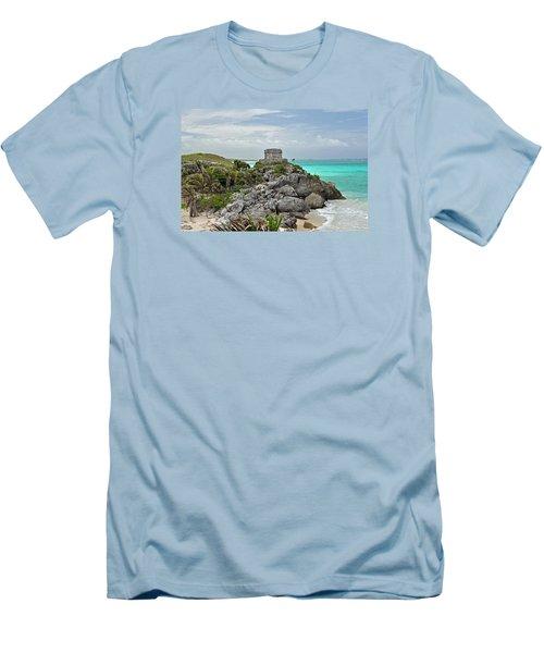 Tulum Mexico Men's T-Shirt (Slim Fit) by Glenn Gordon